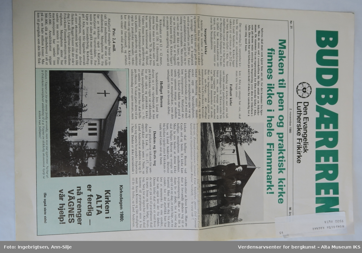 Avis i vanlig avisformat.