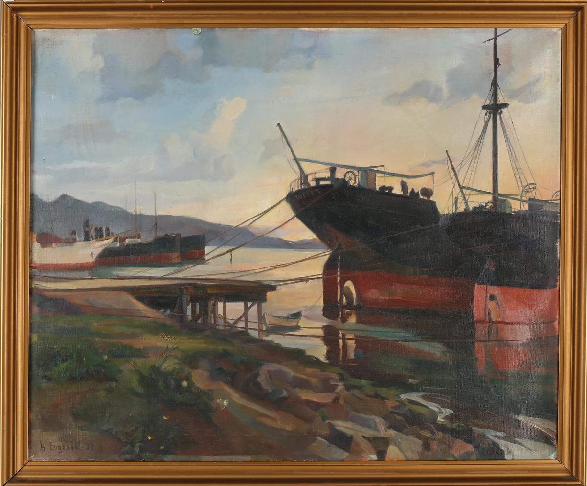 Fartøy i opplag ved Rothaugen, Bergen.