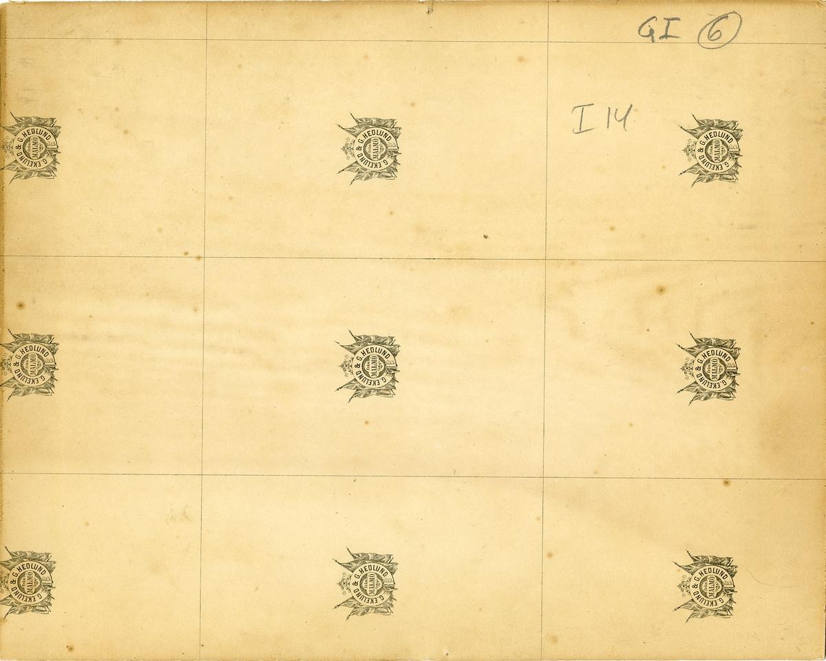 Grupporträtt av Hälsinge regemente I 14 utanför officerspaviljongen Mohed. För namn, se bild nr. 3.