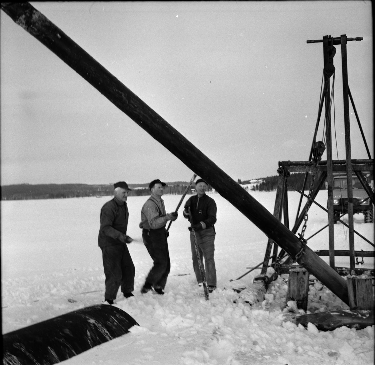 Arbrå, Rensning av Kyrksjön, 20 Februari 1968