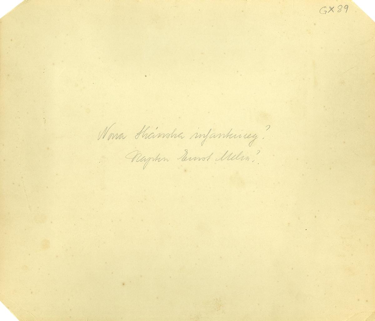 Grupporträtt av officerare vid Norra skånska infanteriregementet I 24.