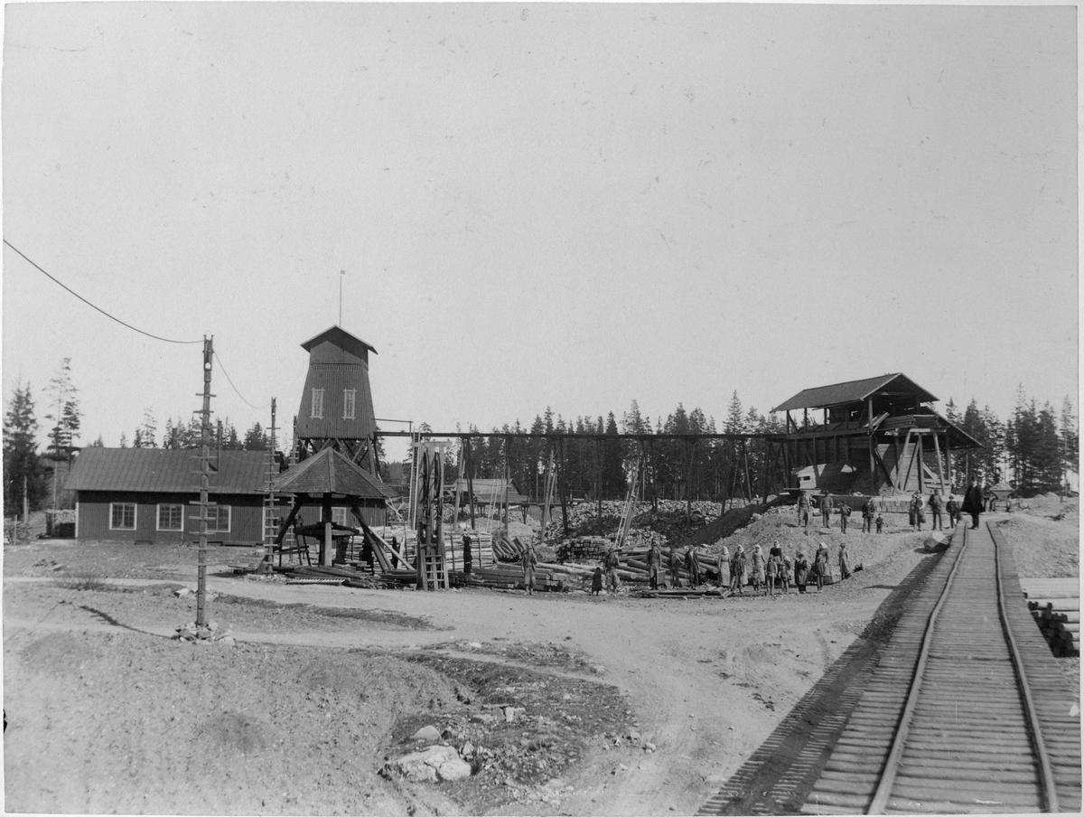 Kallmora gruva. Norbergs gruvor. 1880-talet.