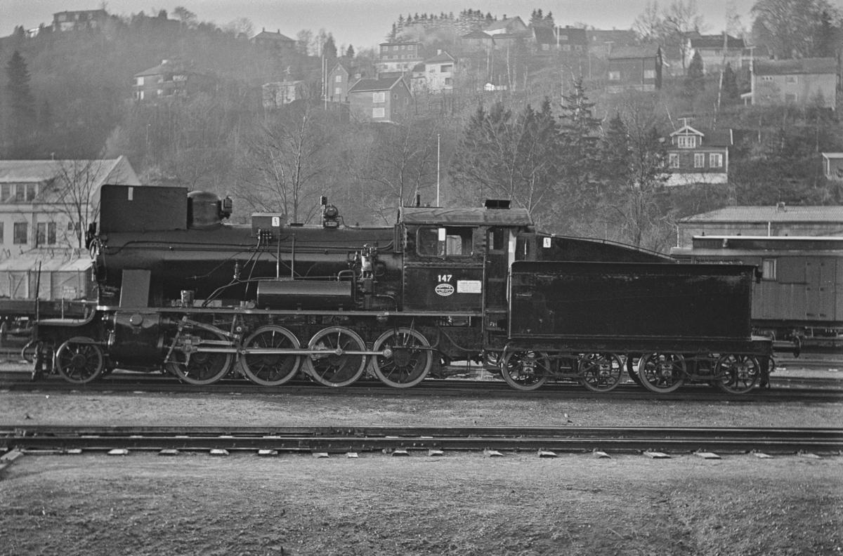 Damplokomotiv type 24b nr. 147, nyrevidert på NSBs verksted på Marienborg