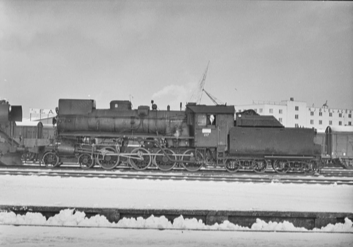 Damplokomotiv type 26a nr. 217 på Marienborg ved Trondheim.