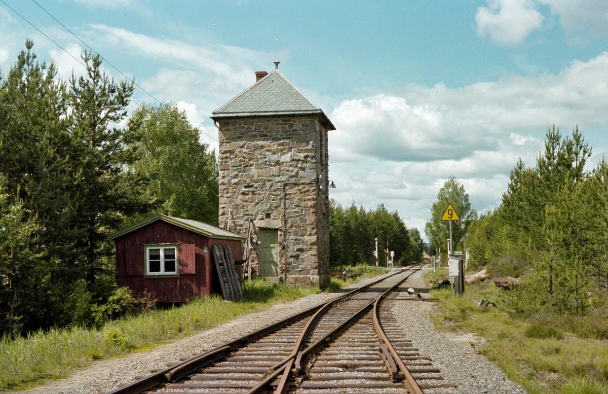 Søndre vanntårn på Elverum stasjon.