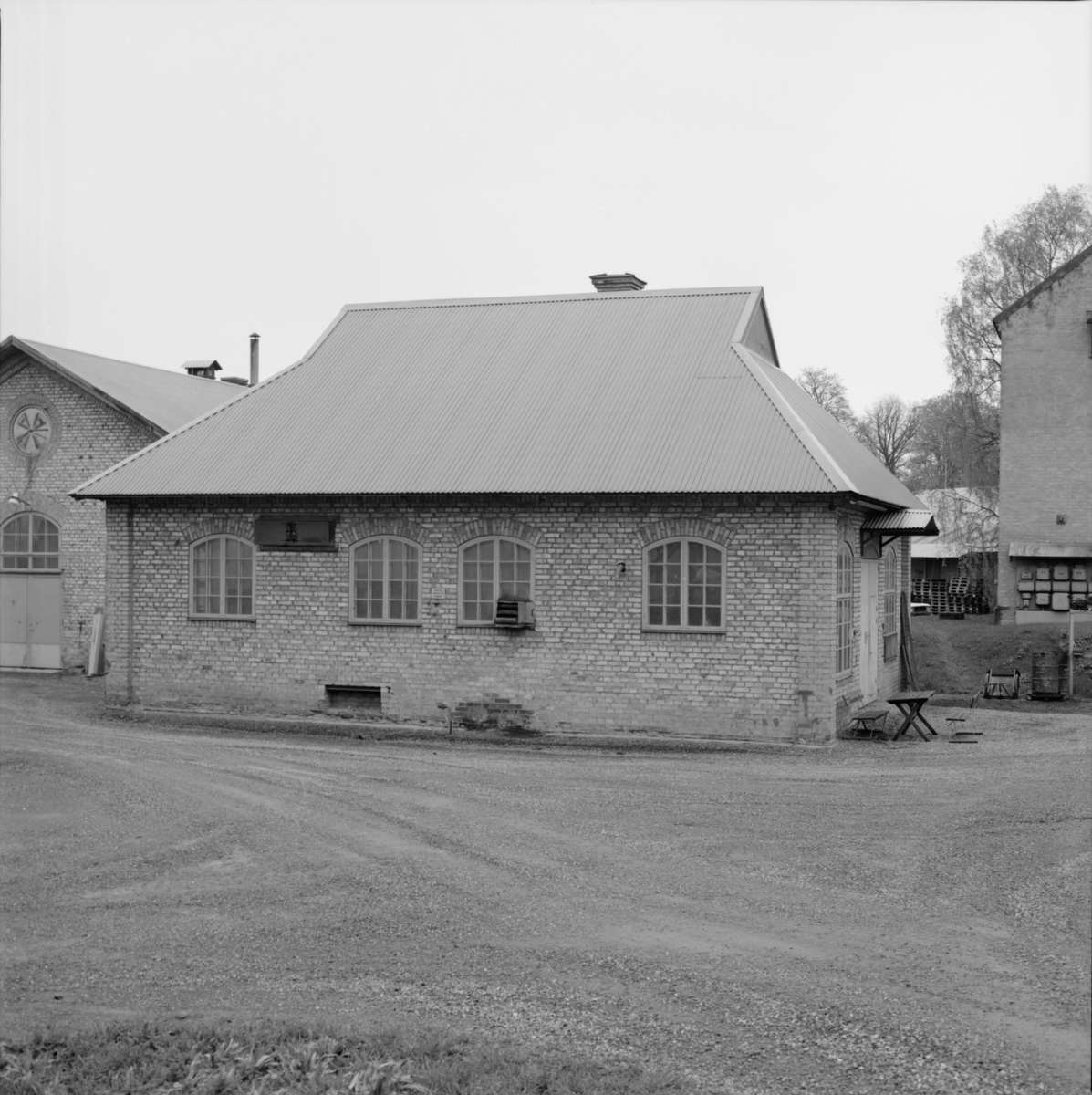 Industribyggnad, Dannemora Gruvor AB, Dannemora, Uppland maj 1991