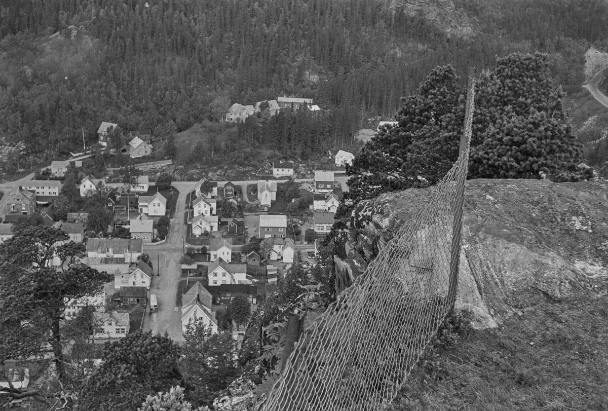 Utsikt over Namsos sett fra Bjørumsklompen.