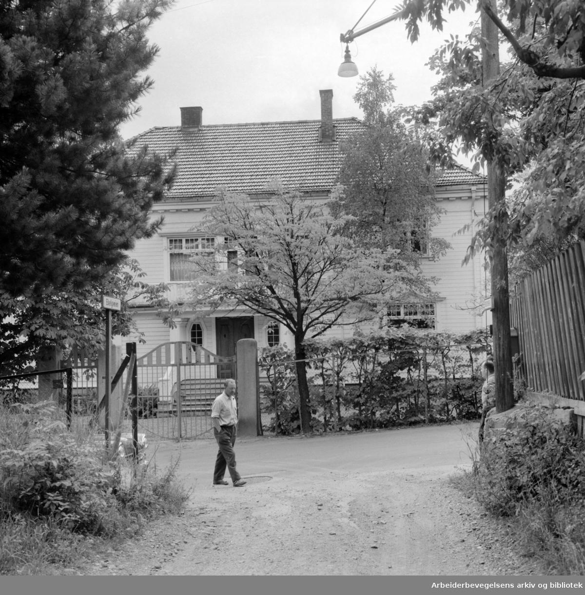 Holmenveien 20. Bolig for Khrusjtsjov under Norgesbesøket. Juli 1959