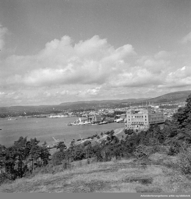Ekeberg: Sjømannskolen. August 1950