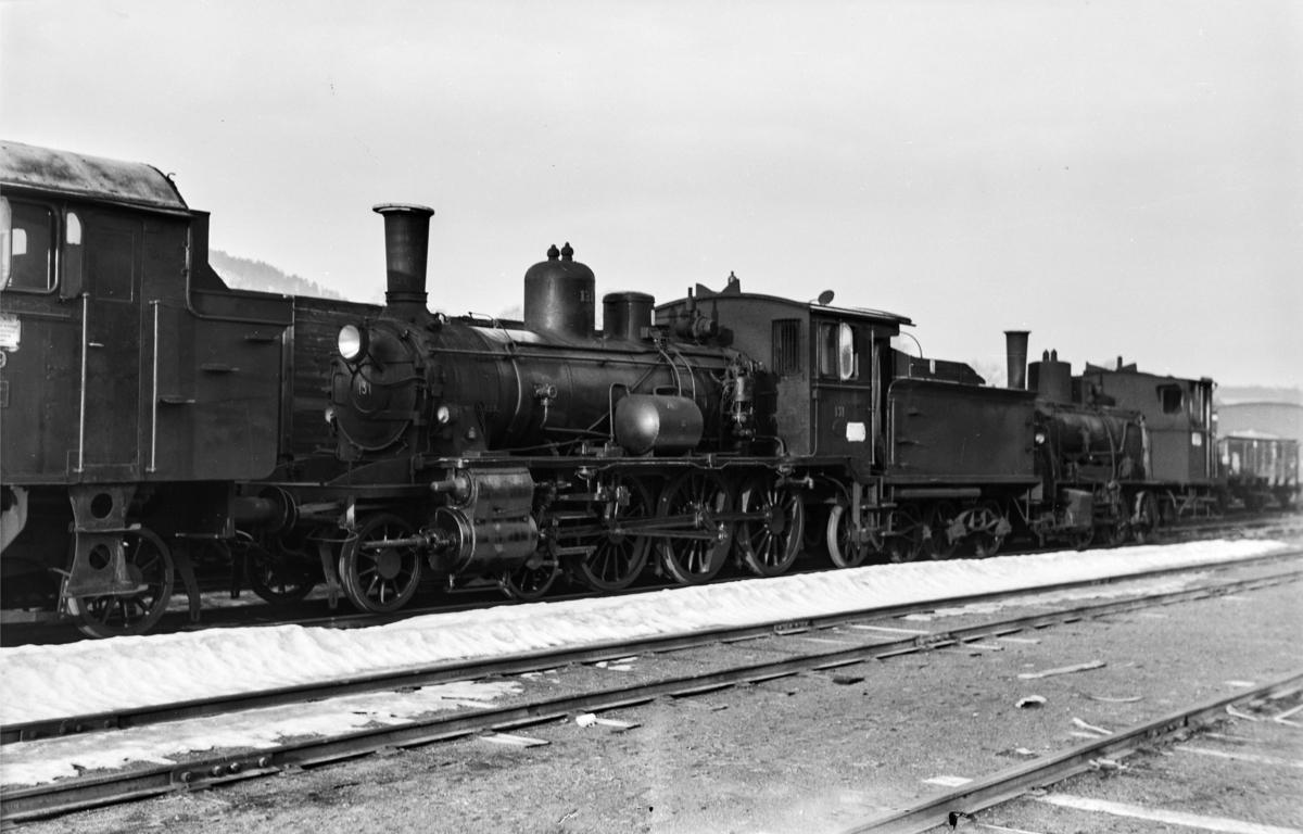 Utrangert damplokomotiv type 18c nr. 131 i Lodalen i Oslo.