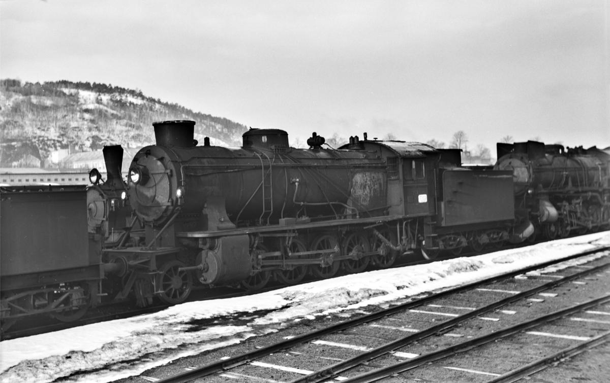 Hensatt damplokomotiv type 39a nr. 169 i Lodalen i Oslo.