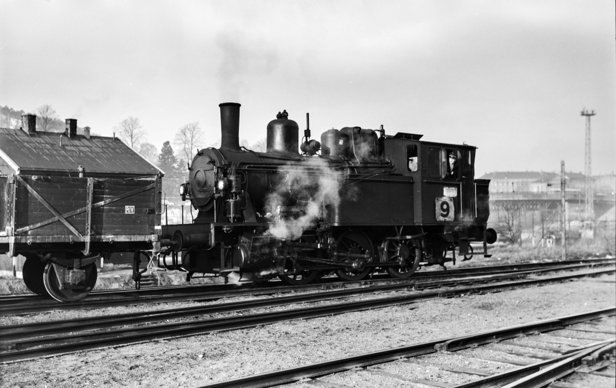 Damplokomotiv type 23b nr. 458 i skiftetjeneste i Lodalen i Oslo.