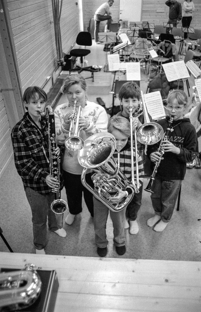 Vestby skolemusikkorps med konsert