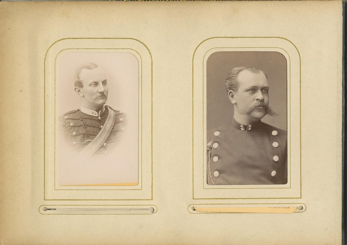 Porträtt av Waldemar Christian Dyrssen, löjtnant vid Wendes artilleriregemente A 3.  Se även bild AMA.0002084 och AMA.0007087.