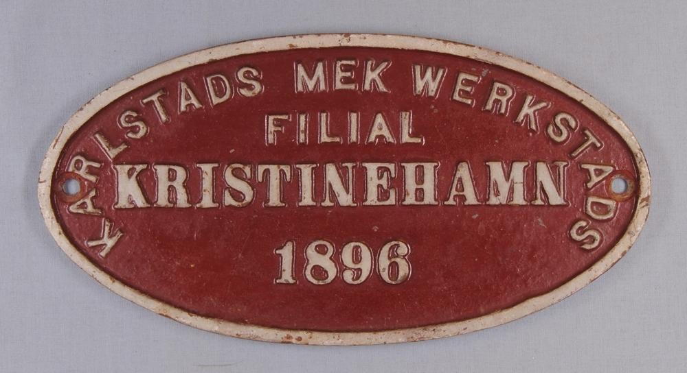 KARLSTADS MEK WERKSTADS FILIAL KRISTINEHAMN  Modell/Fabrikat/typ: Röd med vit text