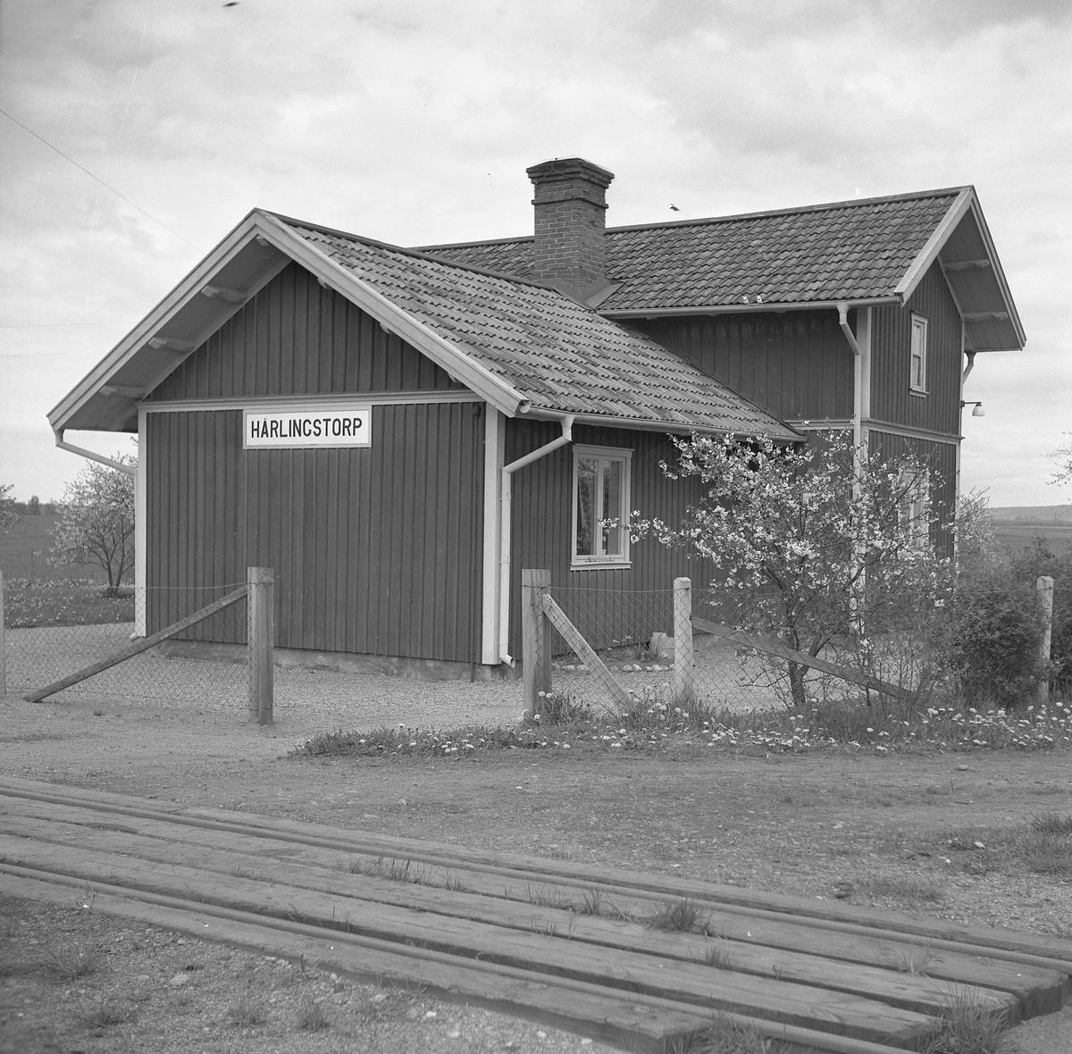 Håll- och lastplats. Bispår till Röde Mosse torvfabrik
