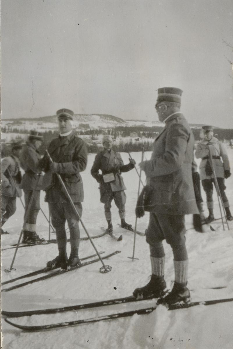Officersövningar i Hålland 10-18.3.1931.