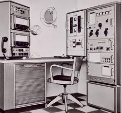 Fartygradiostation levererad av Standard Radio & Telefon AB