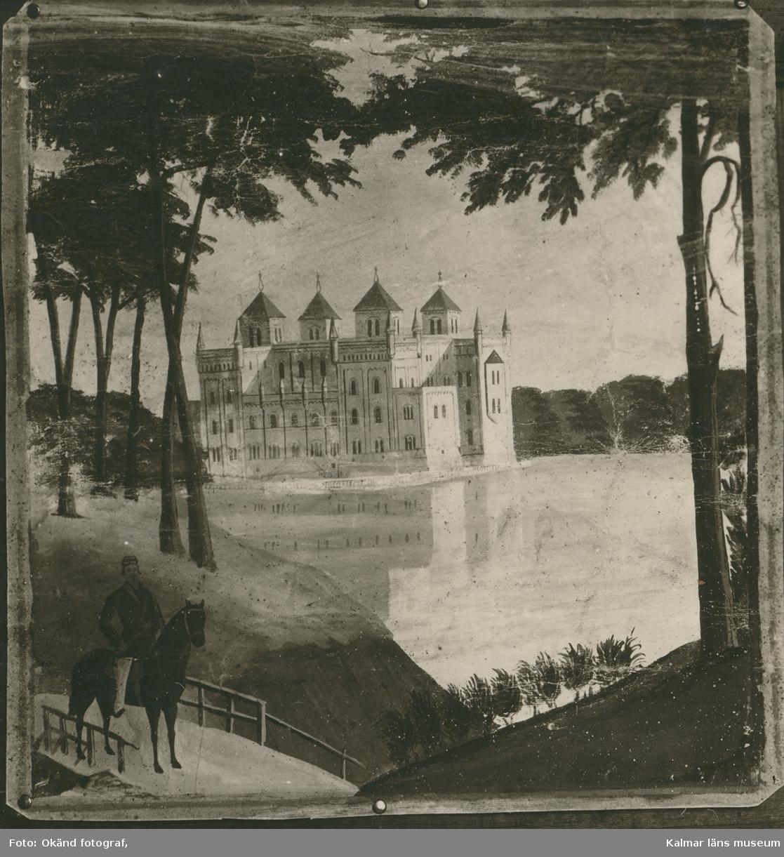 Målningen föreställer Stora Sundby herrgård i Västmanland.