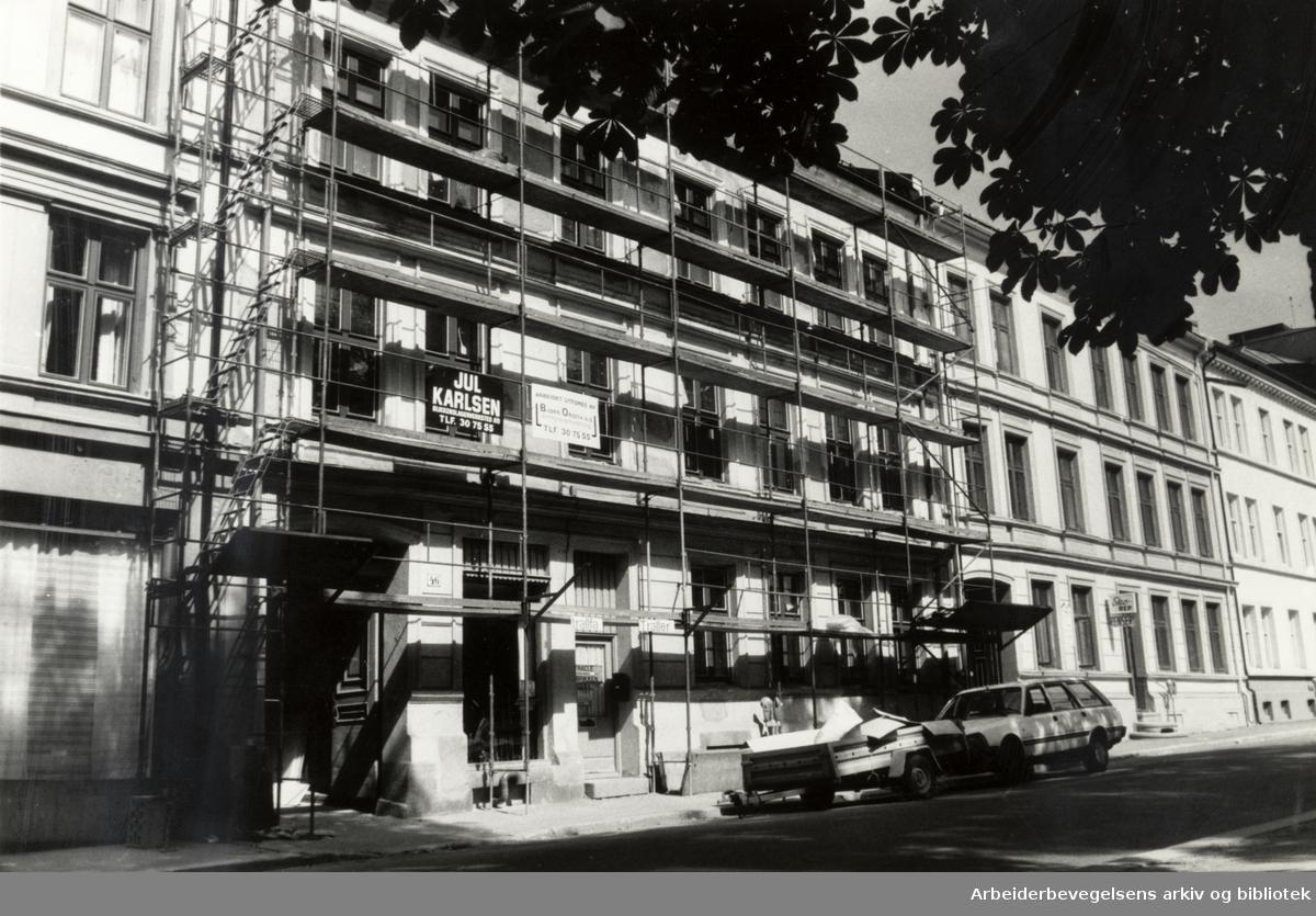 Helgesens gate 46 - 48. Juli 1986