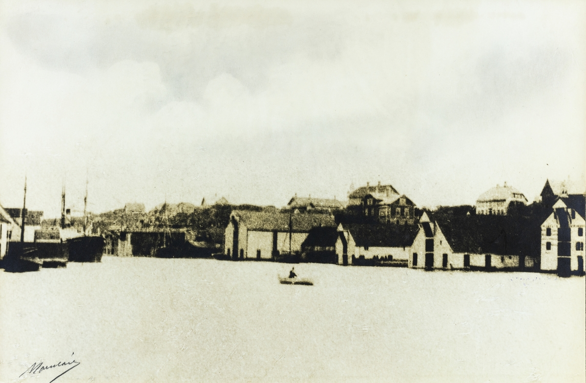 Nordre Smedasundet sett fra Krossen mot nordøst, ca. 1895.