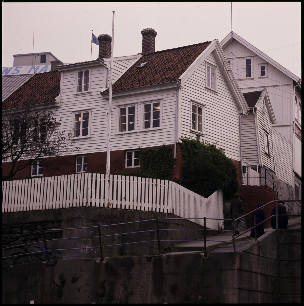 Det tidligere havnekontoret i Haugesund, sett fra Indre kai.