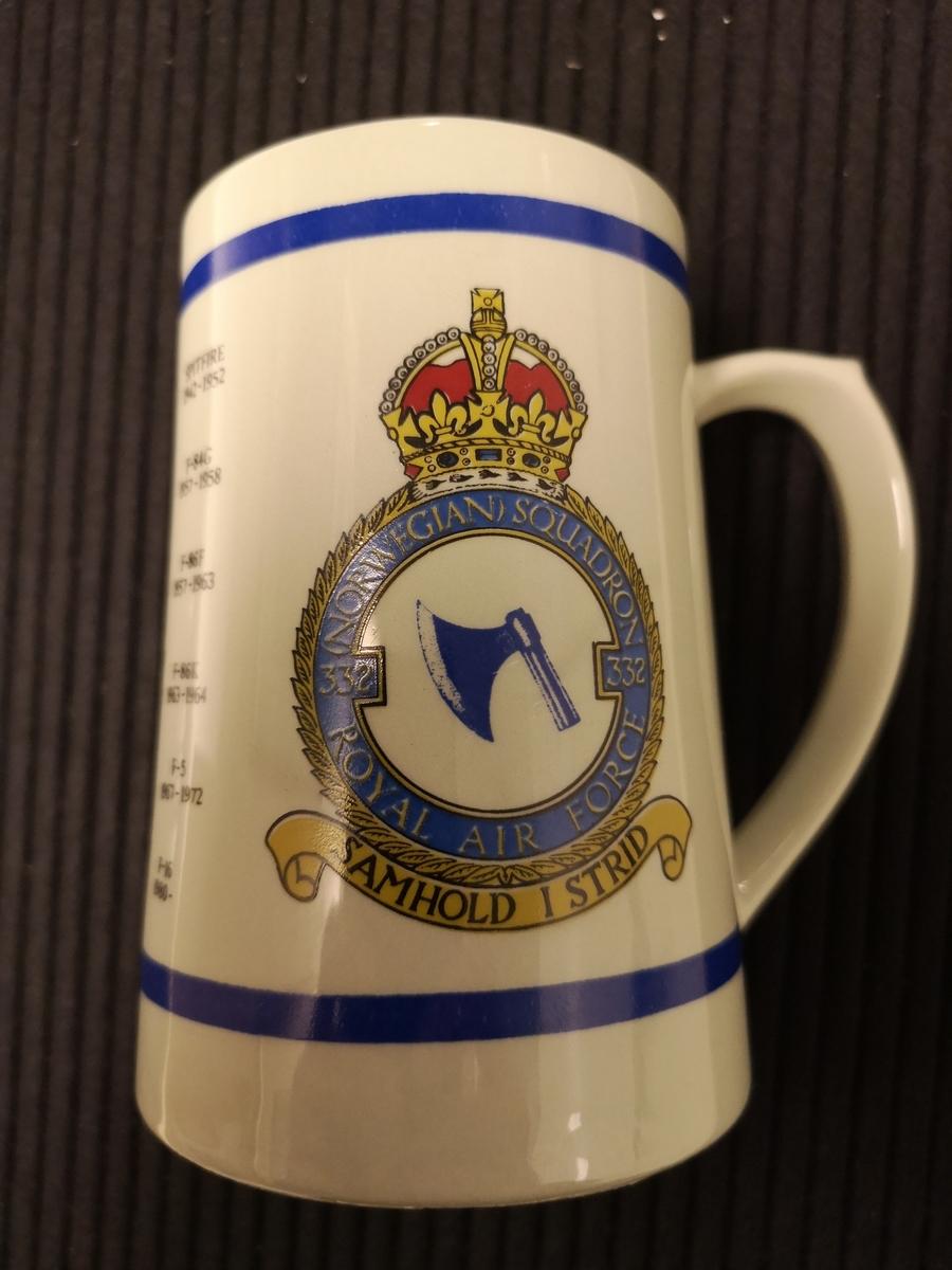 Bilde av Norske mil jagerfly fra 1942-1980 332 skv emblem