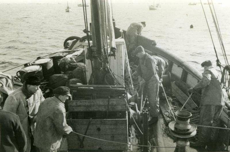 Fiskere i arbeid på fiskefeltet