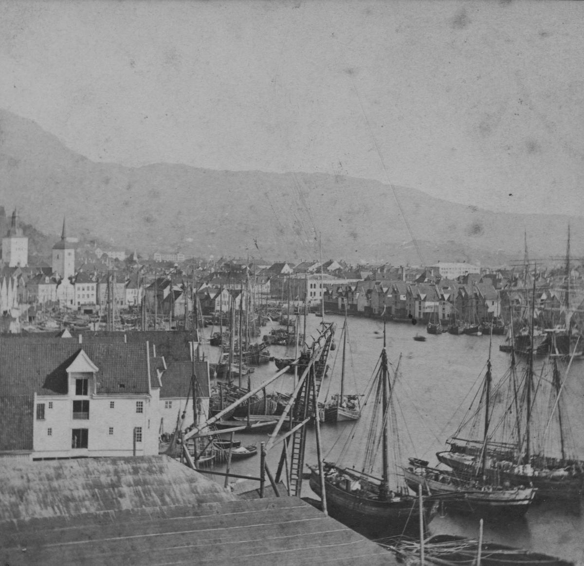Bergens havn. Slottsgatens boder.