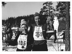 Vinnere av Holmenkollmarsjen. Astri Skovdahl fra Fenstad. In