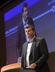 Hans-Christian Gabrielsen (1967-) taler på Norsk Jerbaneforb