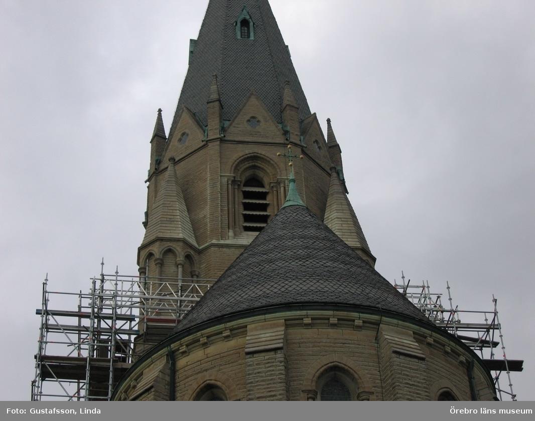Renoveringsarbeten av tornfasader på Olaus Petri kyrka (Olaus Petri församling).Östra tornet, efter åtgärder.Dnr: 2008.230.065
