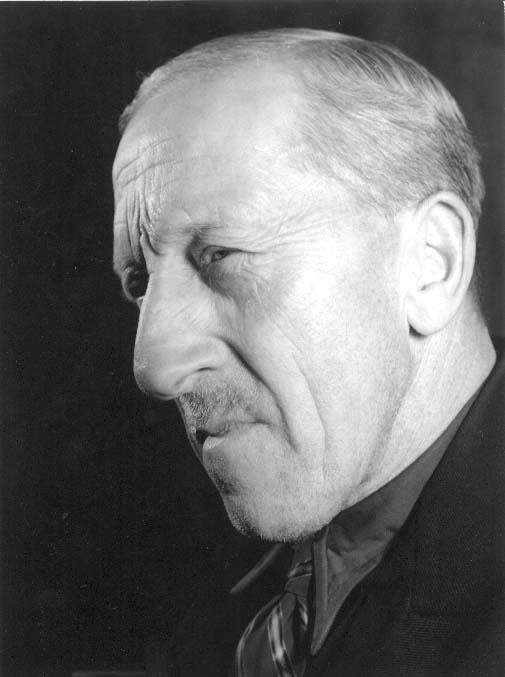 """Porträtt av Herman Johansson, """"Herman målare""""."""