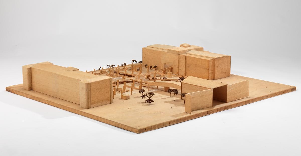 Utkast til bebyggelse og utforming av Tullinløkka [Studiemodell]