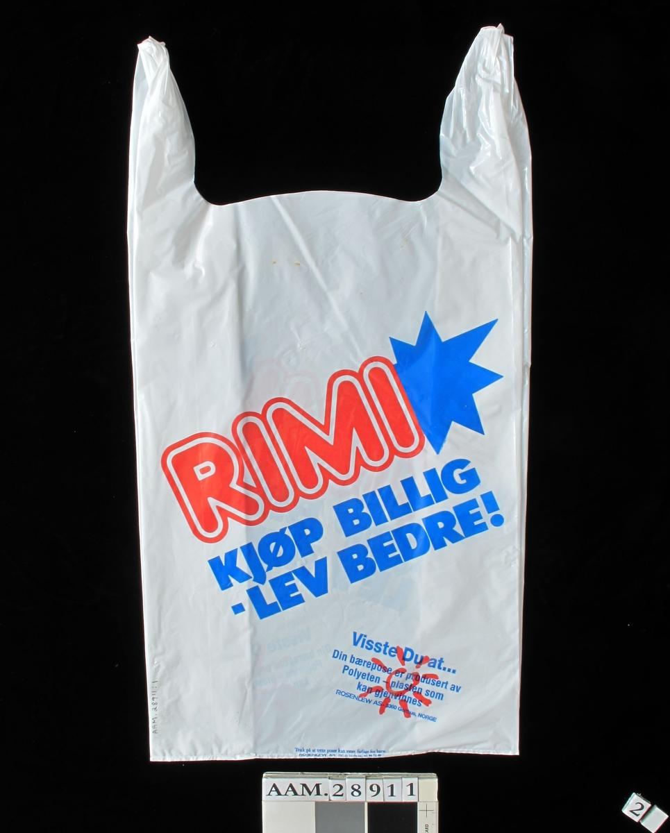 Rimi-kjedens logo i rødt og blått