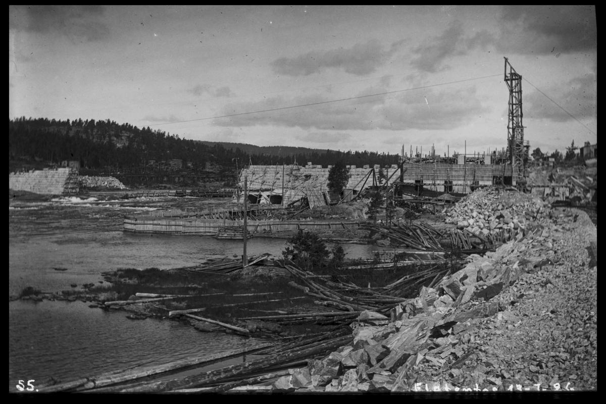 Arendal Fossekompani i begynnelsen av 1900-tallet CD merket 0468, Bilde: 63 Sted: Flaten Beskrivelse: Oversiktsbilde