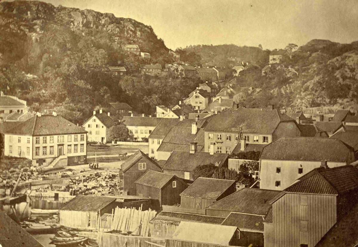 Arendal - Torvet etter brannen i 1863