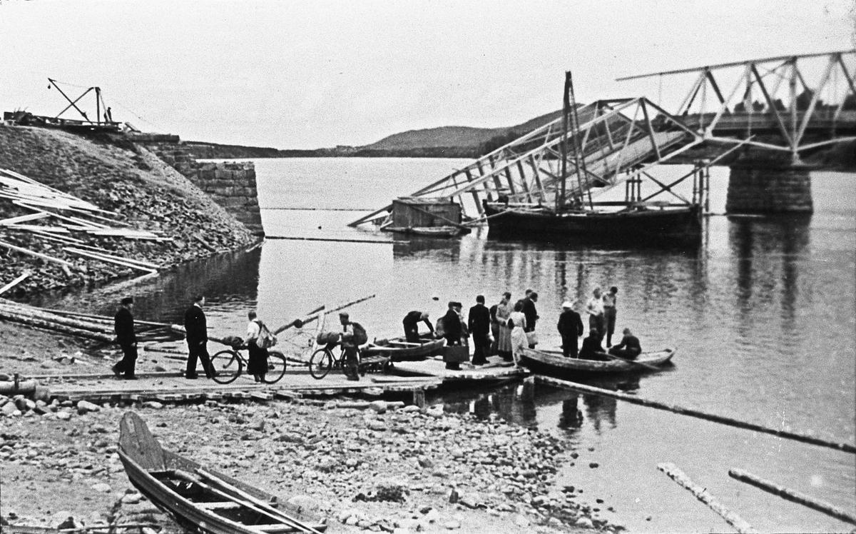 Båtfrakt over Vorma i april-juni 1940