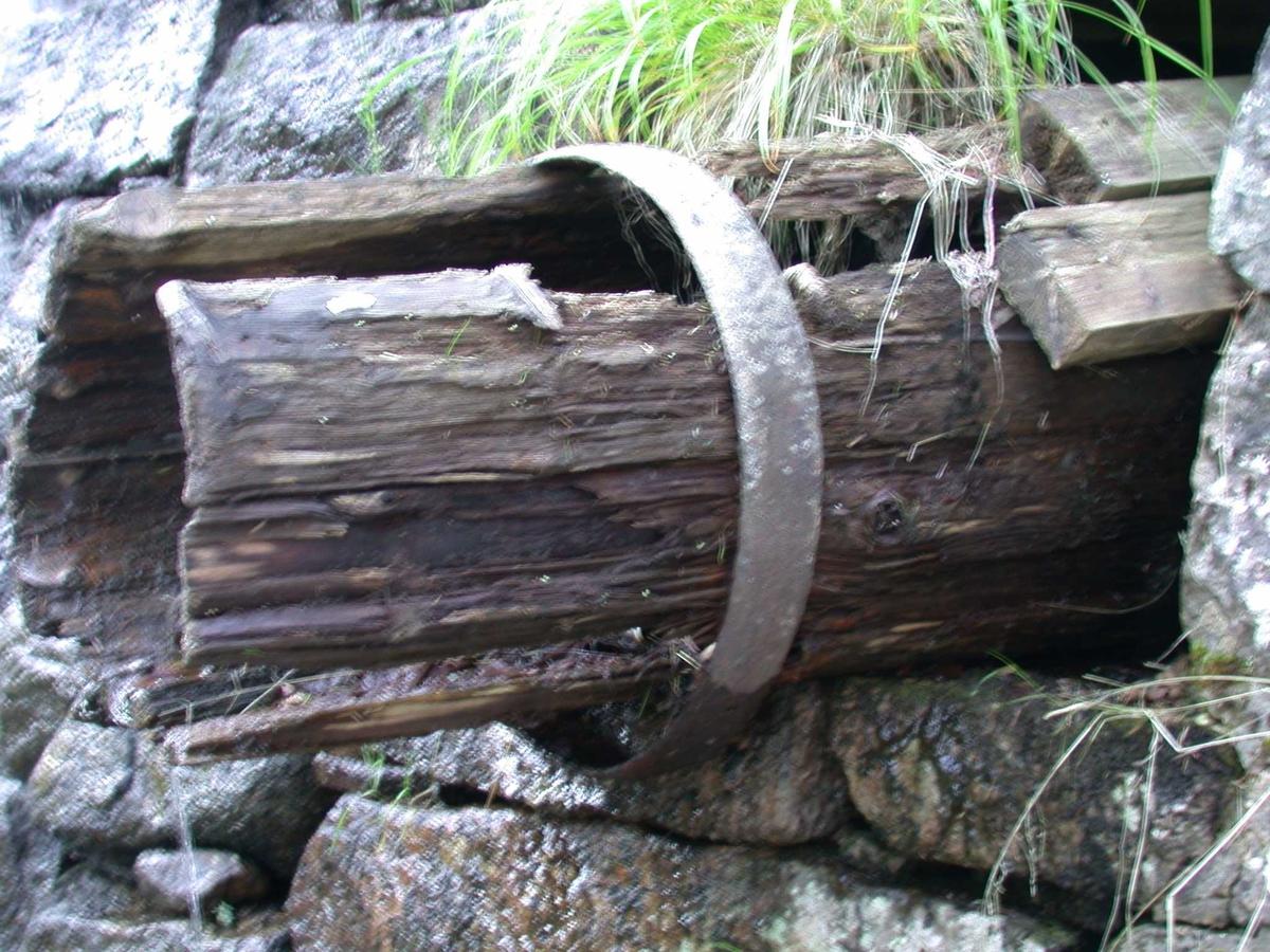 Rørgate til kraftverk I, uttak fra dammen