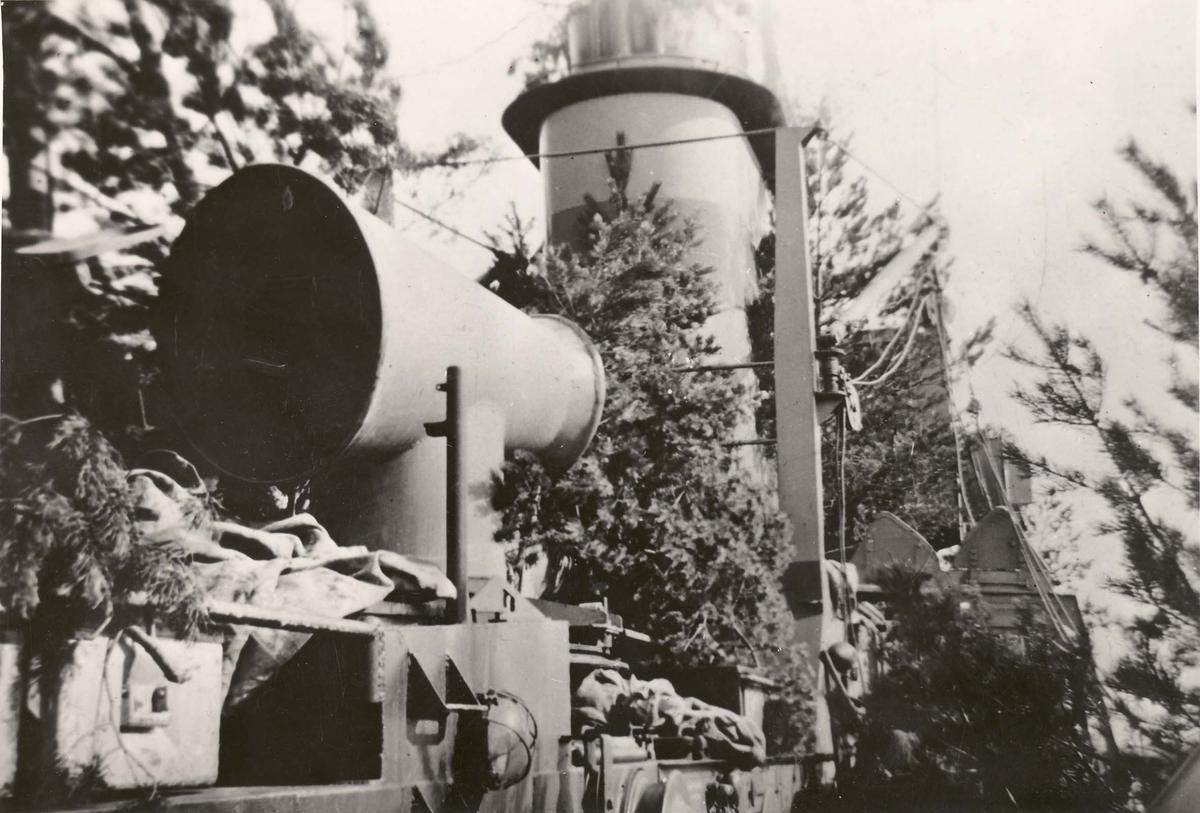 Jageren Sleipner -  kamuflert i Romsdalsfjorden 1940..