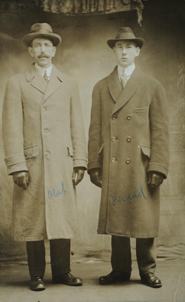 Olaf og Harald Svenkerud, fra Svenkerud Østre i Vang H