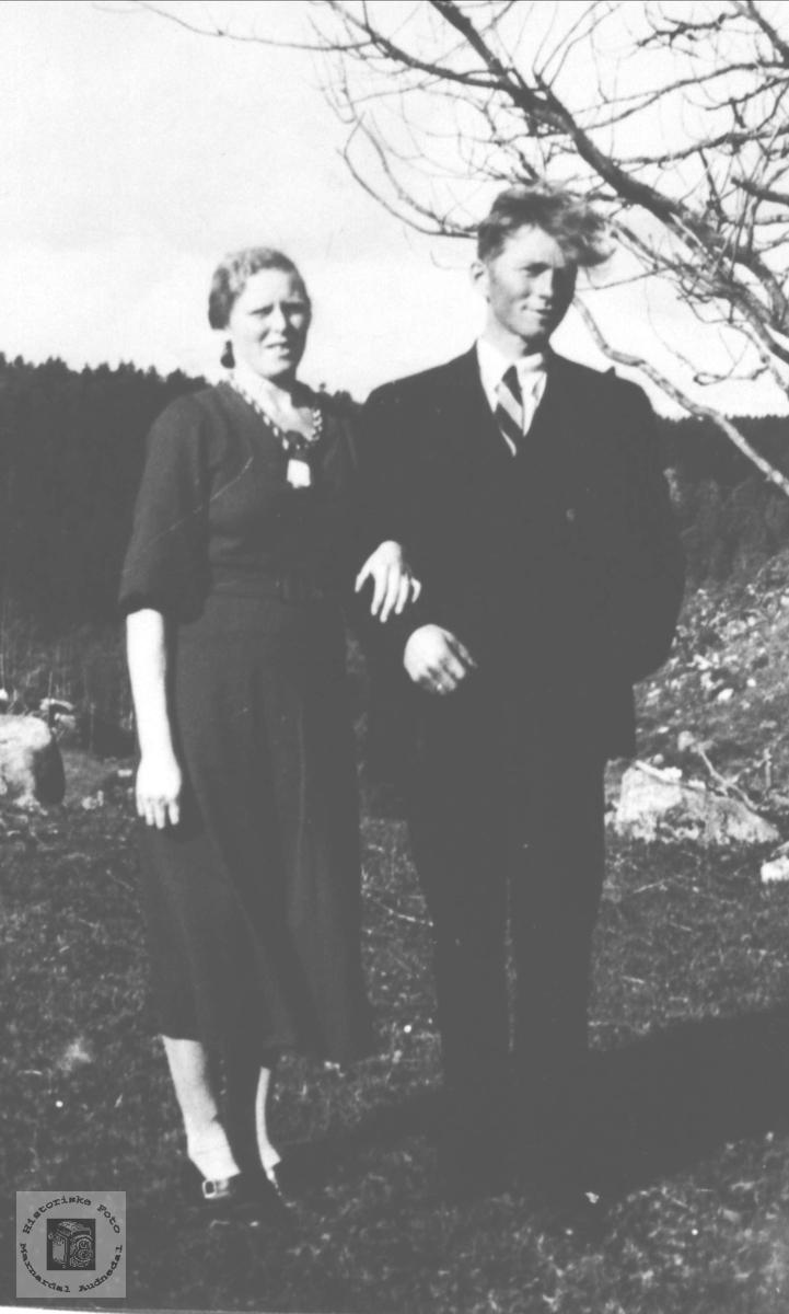 Ekteparet Klara og Olav Finsådal.