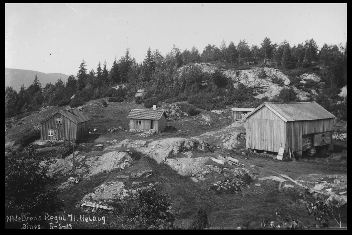 Arendal Fossekompani i begynnelsen av 1900-tallet CD merket 0446, Bilde: 79 Sted: Nelaug. Øynes
