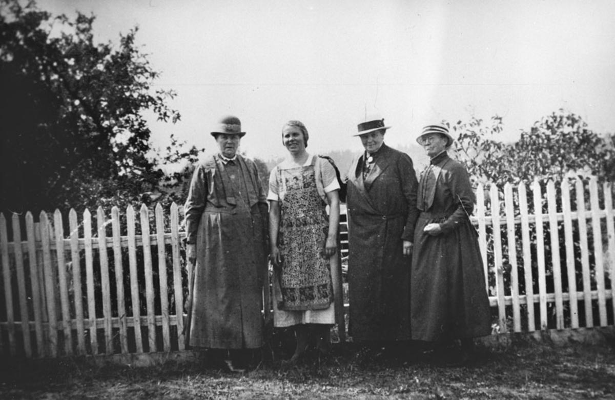 De 3 gamle damene på Sanderborg og en yngre dame