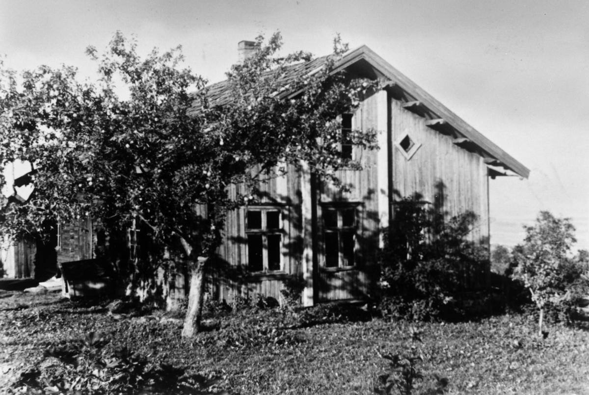 Huset Oppstuen på Åmodt øvre, litt skjult bak små trær  l