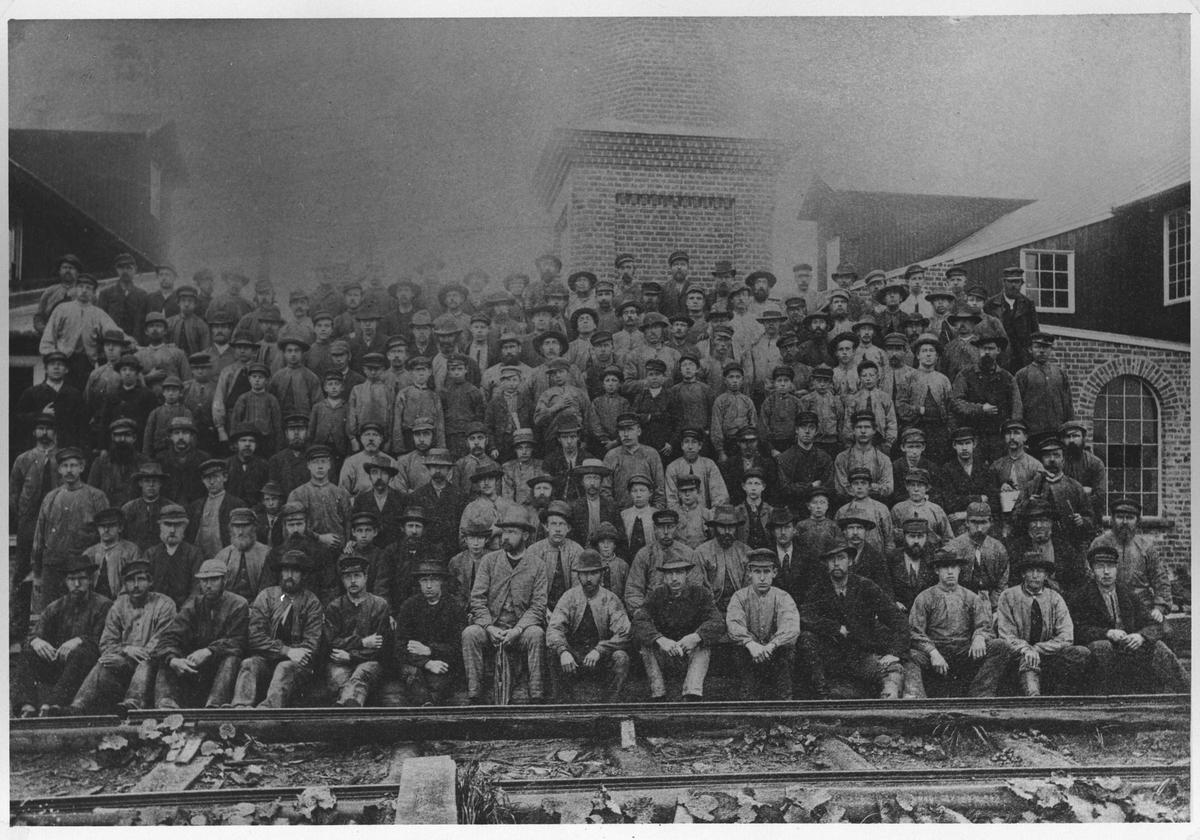 Arbeiderne på Egeberg Bruk.