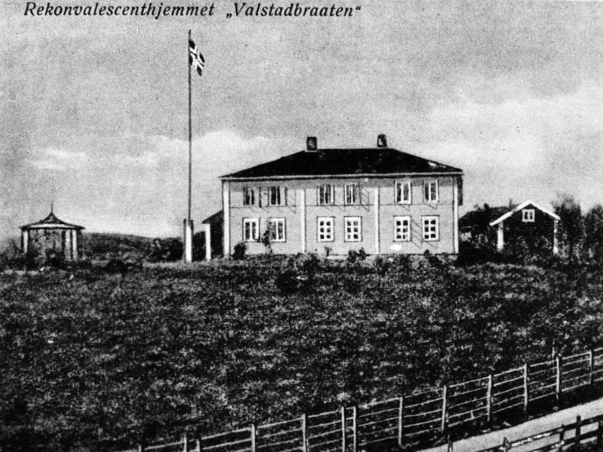 """Rekonvalesenshjemmet """"Valstadbråten"""" Postkort tegning?"""