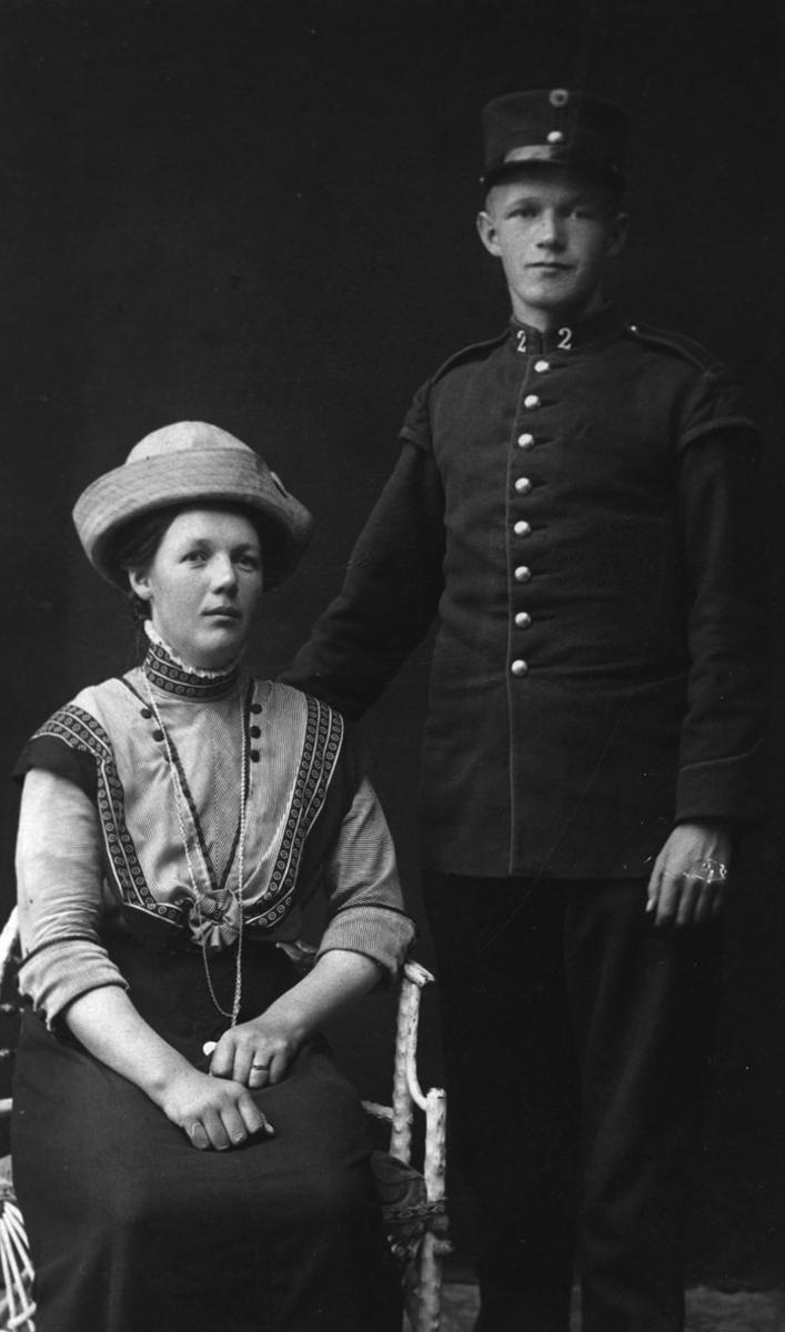 Milly (Emilie) Gjerdrum f. Holim og Olaf Gjerdrum.