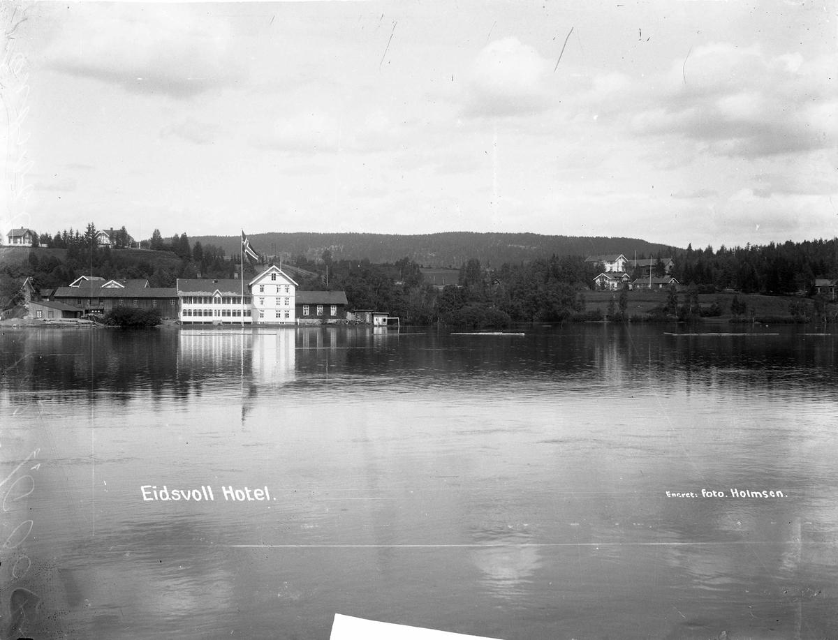 Eidsvoll hotell, flom i 1927.