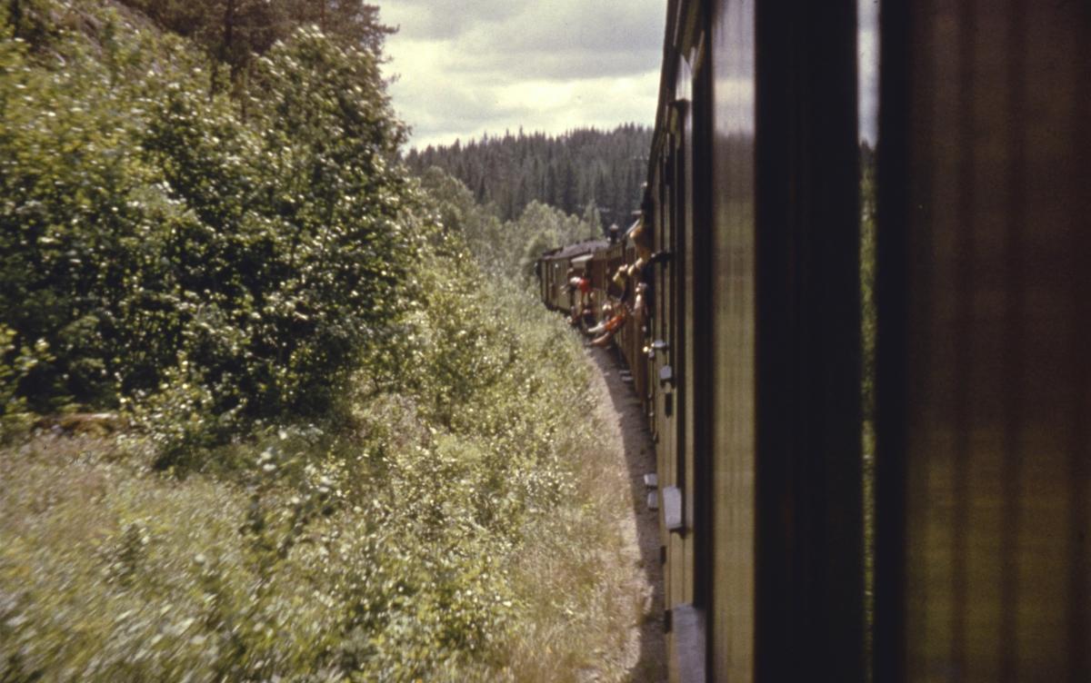 Underveis med et av de siste ordinære tog fra Skulerud til Sørumsand.